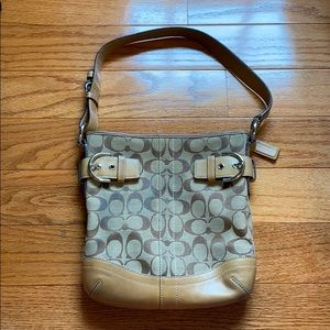 Brown/tan coach satchel